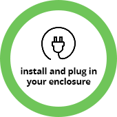 Install and Plug In Your Enclosure