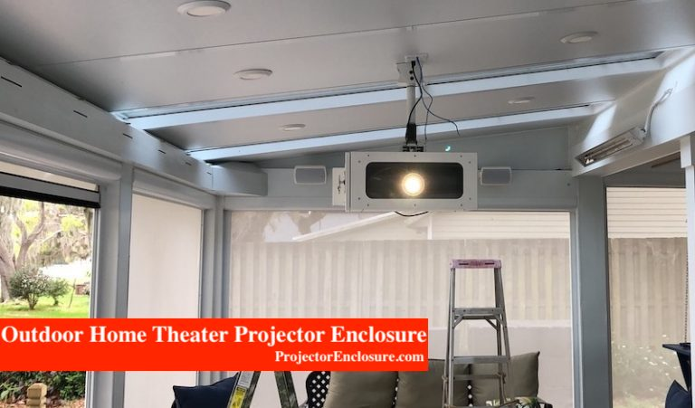 Fan Cooled Projector Enclosure Outdoor Patio