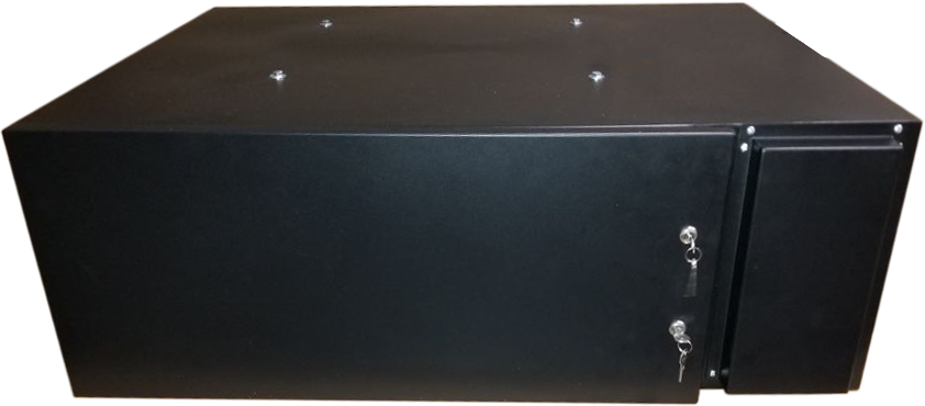 projector hush box side view